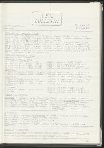 Bulletins (vnl. opstellingen) 1974-04-17