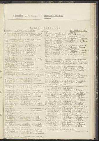 Bulletins (vnl. opstellingen) 1950-12-20
