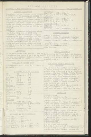 Bulletins (vnl. opstellingen) 1956-09-25