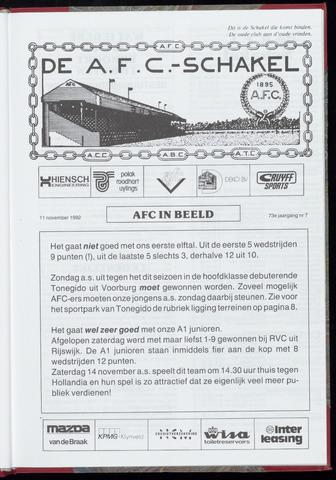 Schakels (clubbladen) 1992-11-11