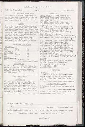 Bulletins (vnl. opstellingen) 1961-06-07