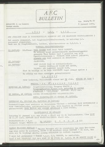 Bulletins (vnl. opstellingen) 1975