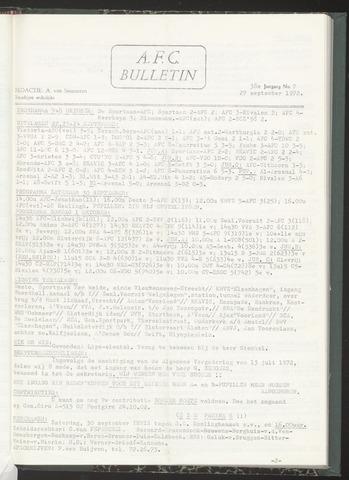 Bulletins (vnl. opstellingen) 1972-09-27