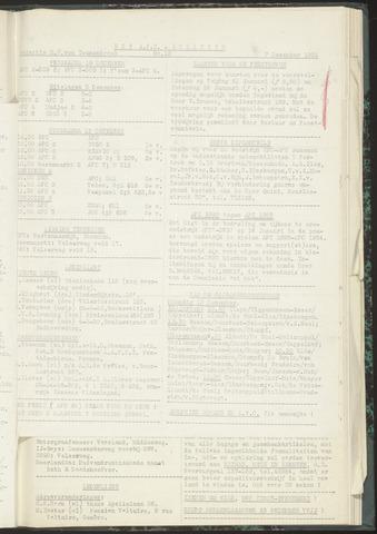 Bulletins (vnl. opstellingen) 1954-12-07