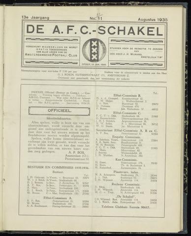Schakels (clubbladen) 1935-08-01