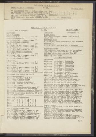 Bulletins (vnl. opstellingen) 1949-04-14