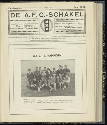 Schakels (clubbladen) 1932-02-01