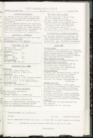Bulletins (vnl. opstellingen) 1961-05-31