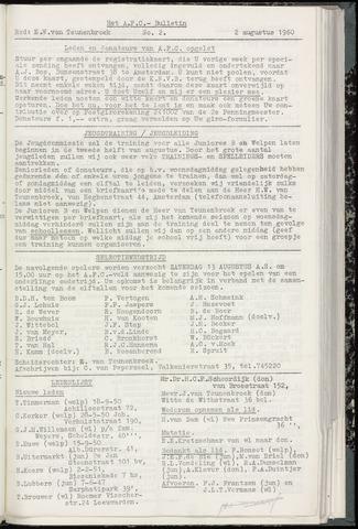 Bulletins (vnl. opstellingen) 1960-08-02