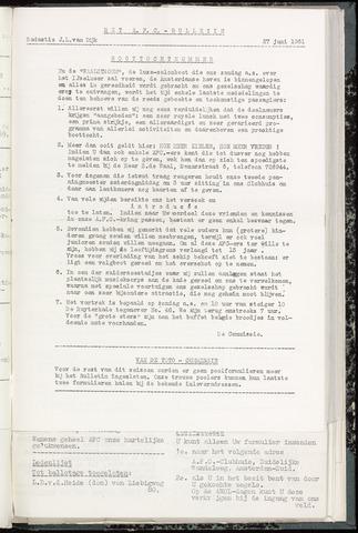 Bulletins (vnl. opstellingen) 1961-06-27