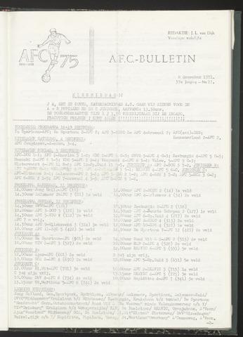 Bulletins (vnl. opstellingen) 1971-12-08