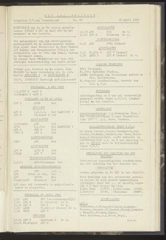 Bulletins (vnl. opstellingen) 1952-04-22