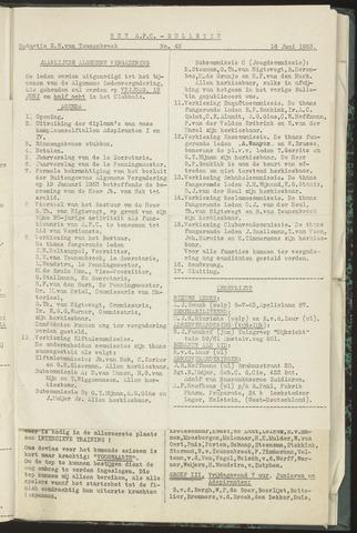 Bulletins (vnl. opstellingen) 1953-06-16