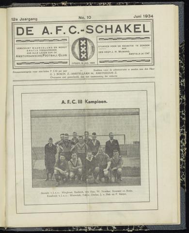Schakels (clubbladen) 1934-06-01