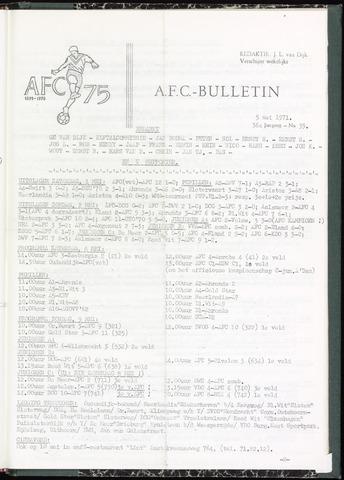 Bulletins (vnl. opstellingen) 1971-05-05