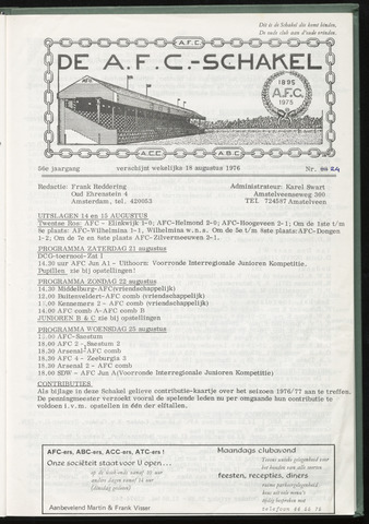 Schakels (clubbladen) 1976-08-18