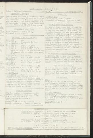 Bulletins (vnl. opstellingen) 1958-02-26