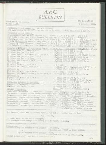 Bulletins (vnl. opstellingen) 1972-11-01