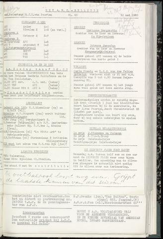 Bulletins (vnl. opstellingen) 1960-05-10
