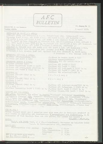 Bulletins (vnl. opstellingen) 1973-04-04