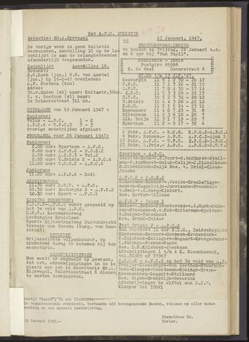 Bulletins (vnl. opstellingen) 1947-01-23