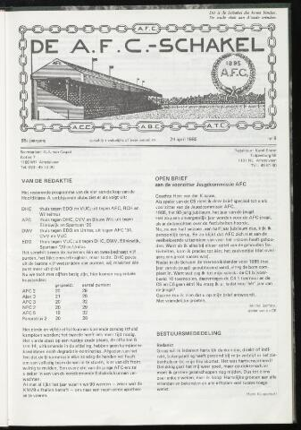 Schakels (clubbladen) 1985-04-24