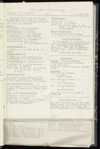 Bulletins (vnl. opstellingen) 1962-07-31