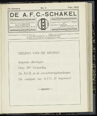 Schakels (clubbladen) 1933