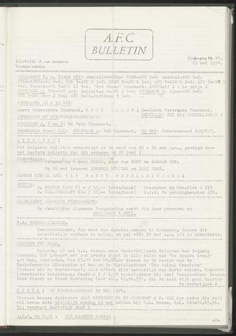 Bulletins (vnl. opstellingen) 1974-05-15