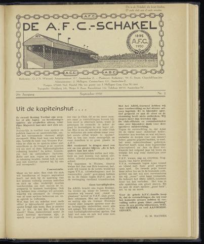Schakels (clubbladen) 1950-09-01