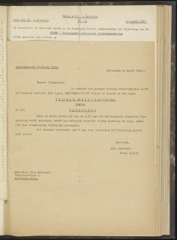 Bulletins (vnl. opstellingen) 1947-04-14