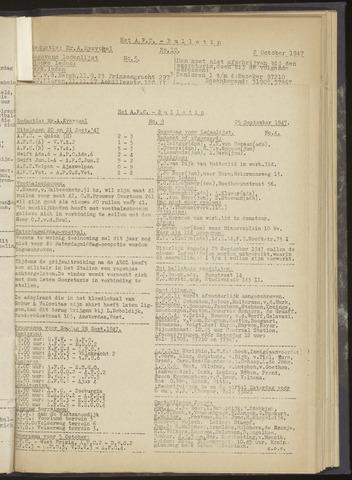 Bulletins (vnl. opstellingen) 1947-09-25