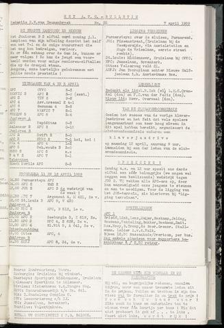 Bulletins (vnl. opstellingen) 1959-04-08