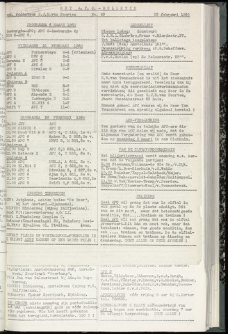 Bulletins (vnl. opstellingen) 1960-02-23