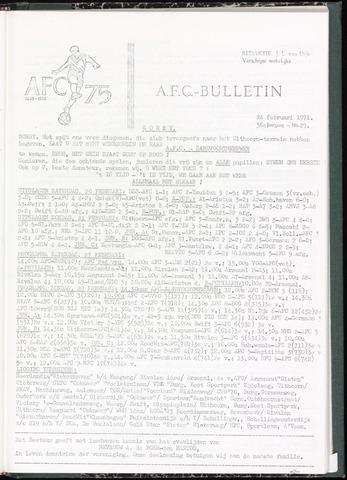 Bulletins (vnl. opstellingen) 1971-02-24
