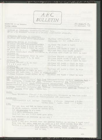Bulletins (vnl. opstellingen) 1973-02-14