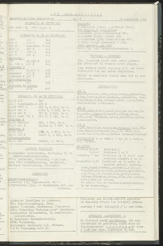 Bulletins (vnl. opstellingen) 1958-09-16