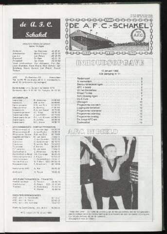 Schakels (clubbladen) 1986-01-15