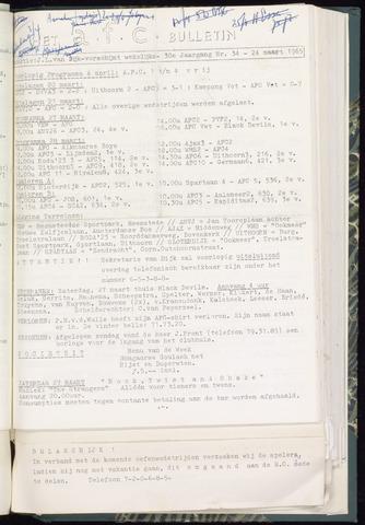Bulletins (vnl. opstellingen) 1965-03-24