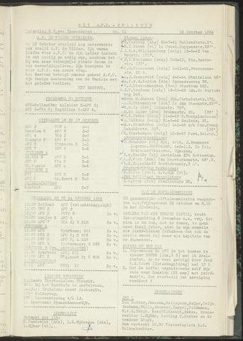 Bulletins (vnl. opstellingen) 1954-10-19