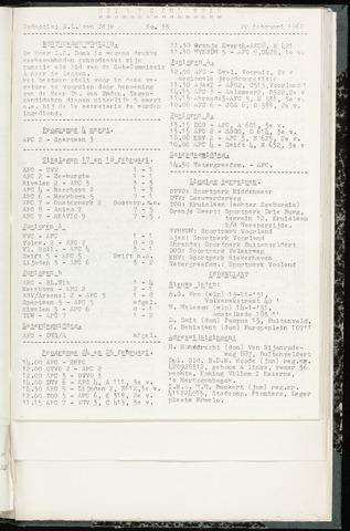 Bulletins (vnl. opstellingen) 1962-02-20