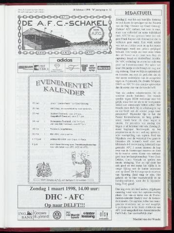 Schakels (clubbladen) 1998-02-18