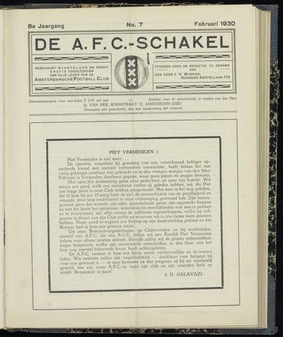 Schakels (clubbladen) 1930-02-01