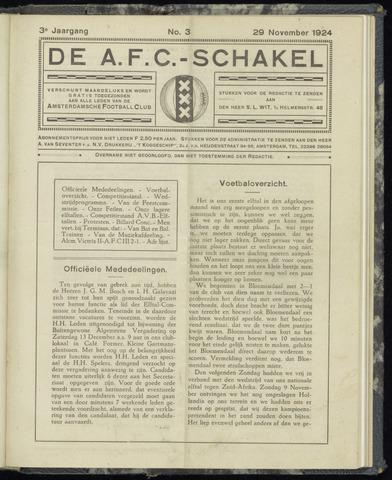 Schakels (clubbladen) 1924-11-29