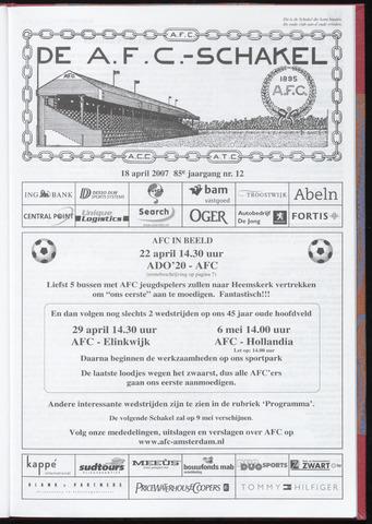 Schakels (clubbladen) 2007-04-18