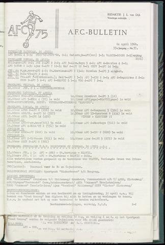Bulletins (vnl. opstellingen) 1968-04-24