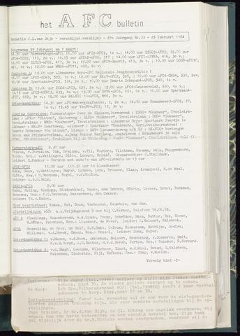 Bulletins (vnl. opstellingen) 1964-02-26