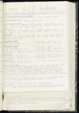 Bulletins (vnl. opstellingen) 1965-03-03