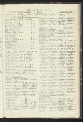 Bulletins (vnl. opstellingen) 1950-10-17