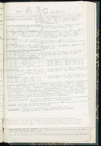 Bulletins (vnl. opstellingen) 1965-09-22